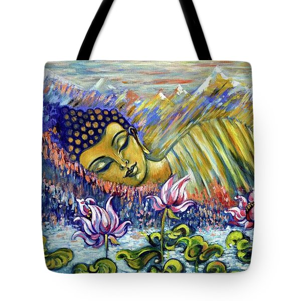 Golden Peace Tote Bag