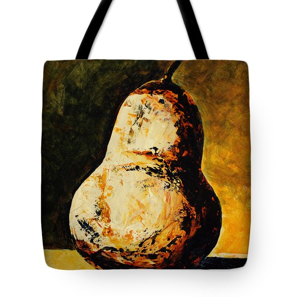 Golden Pear Tote Bag by Cindy Johnston