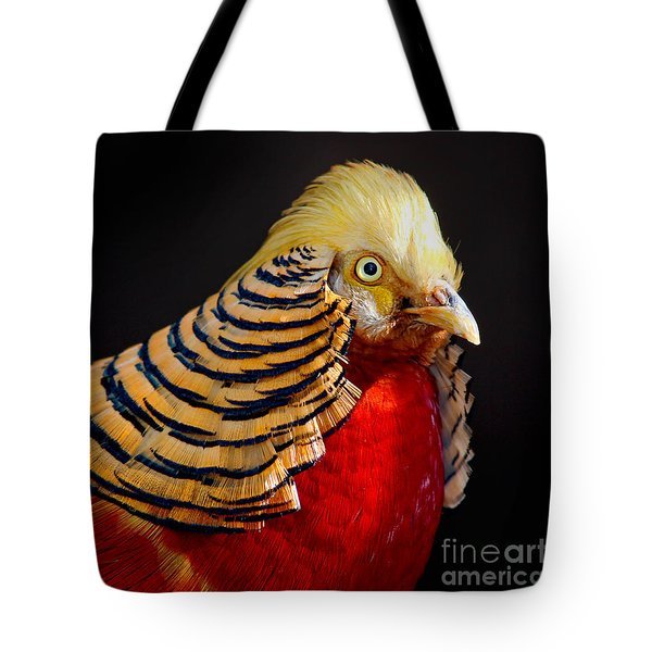 Golden Pheasant Tote Bag by Martin Konopacki