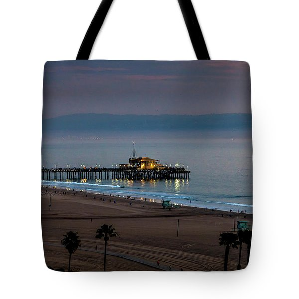 Golden Pier Tote Bag