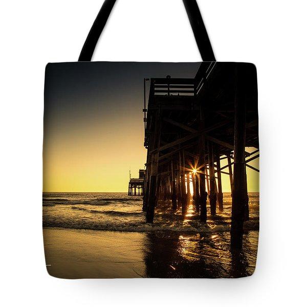 Golden Pier  Tote Bag