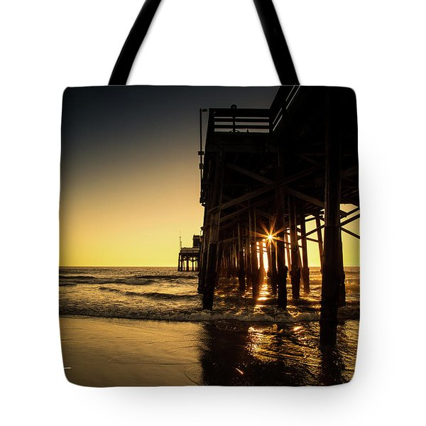 Tote Bag featuring the photograph Golden Pier  by T A Davies