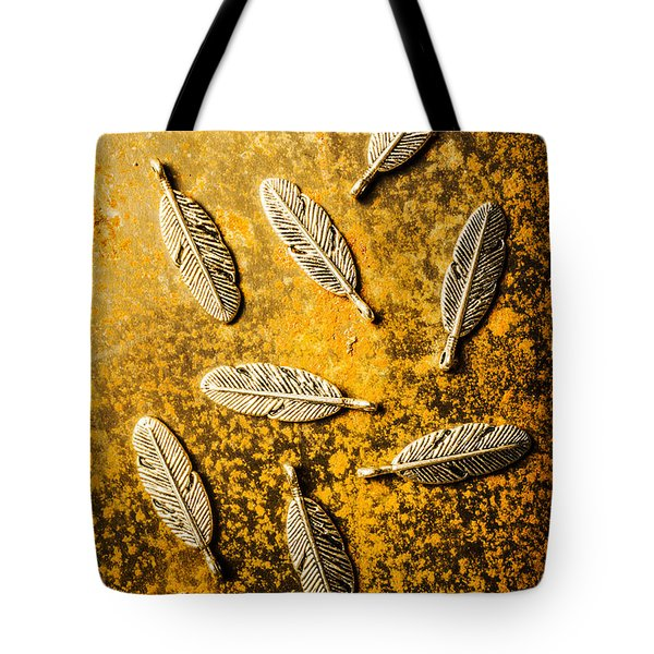 Golden Plumage Tote Bag