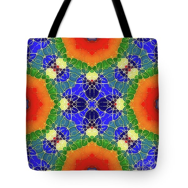 Tote Bag featuring the glass art Golden Pond by Mo T