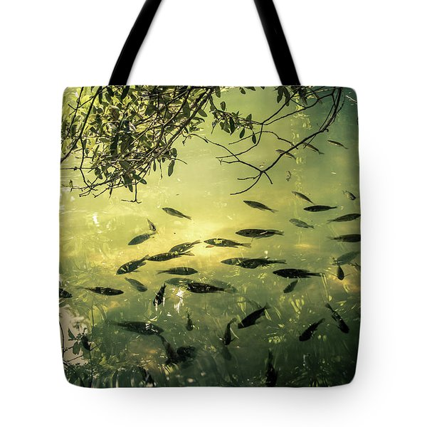 Golden Pond With Fish Tote Bag