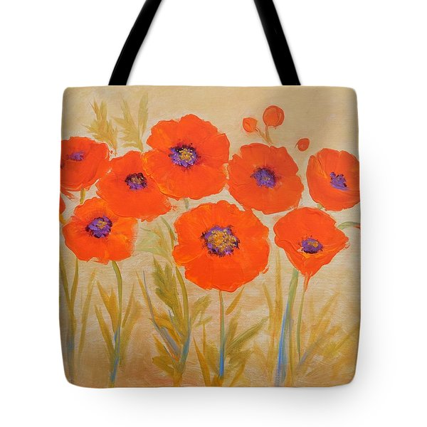 Magical Poppies Tote Bag