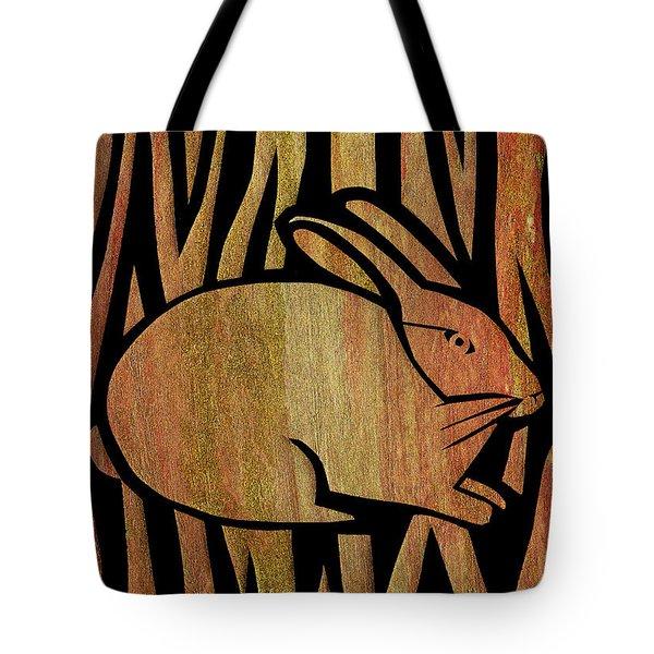 Golden Rabbit Tote Bag