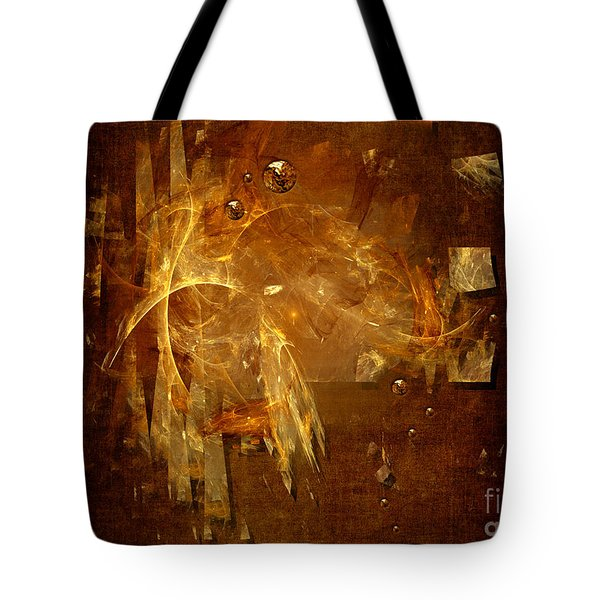 Tote Bag featuring the digital art Golden Rain by Alexa Szlavics