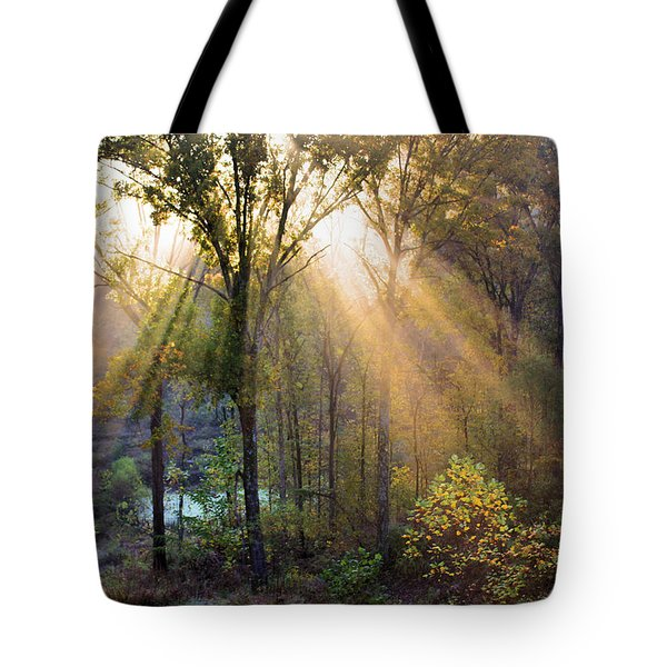 Golden Rays Tote Bag by Kristin Elmquist