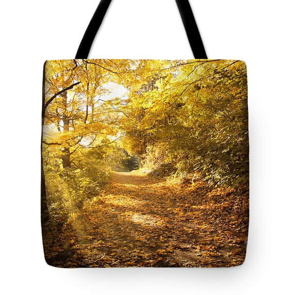 Golden Rays Of Autumn Tote Bag