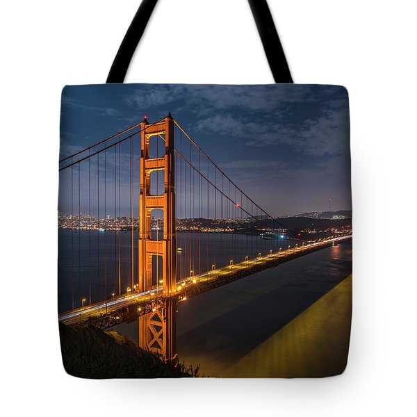 Golden Reflection Tote Bag