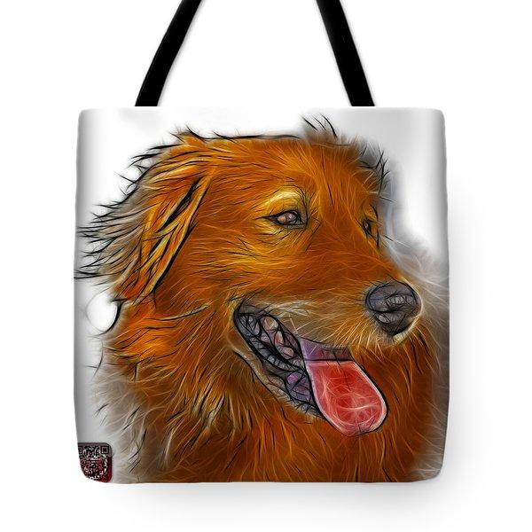 Tote Bag featuring the digital art Golden Retriever - 4057 Wb by James Ahn