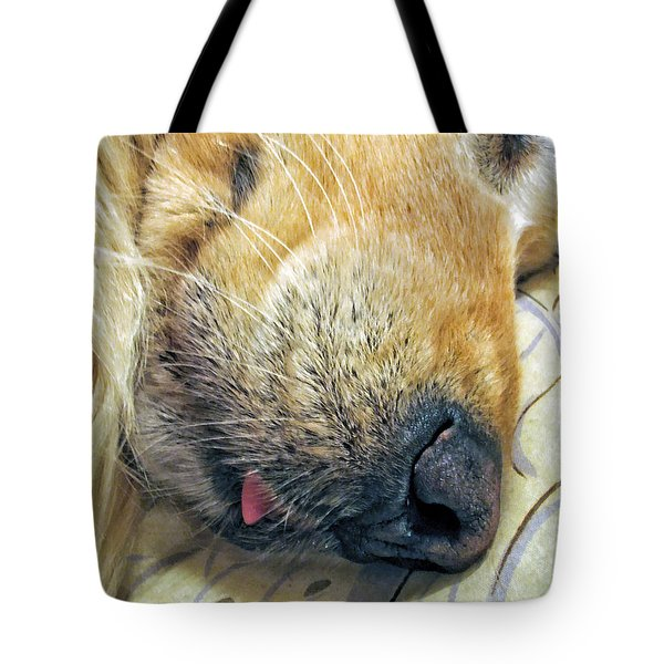 Golden Retriever Dog Little Tongue Tote Bag
