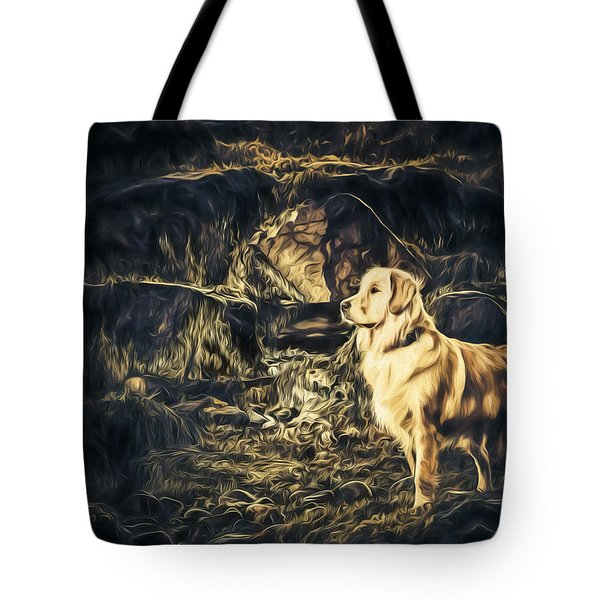 Golden Retriever - Painted - Did Someone Say Treat? Tote Bag