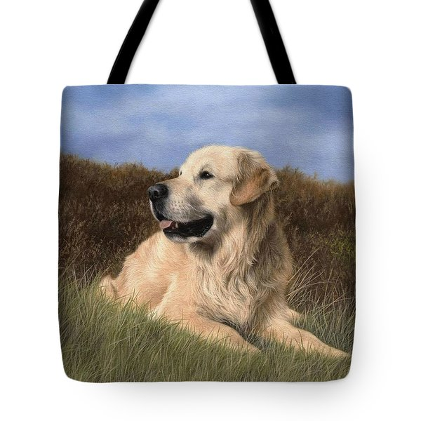 Golden Retriever Painting Tote Bag