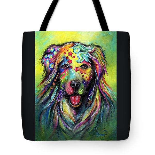 Golden Retriever Tote Bag by Patricia Lintner