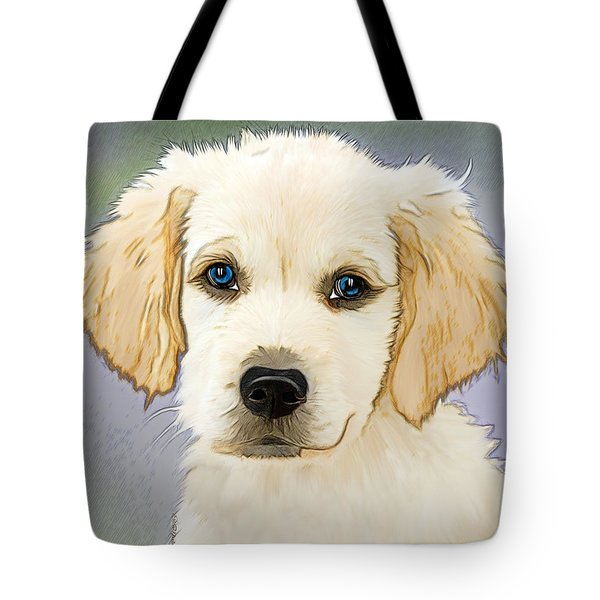 Golden Retriever Puppy Tote Bag by EricaMaxine Price