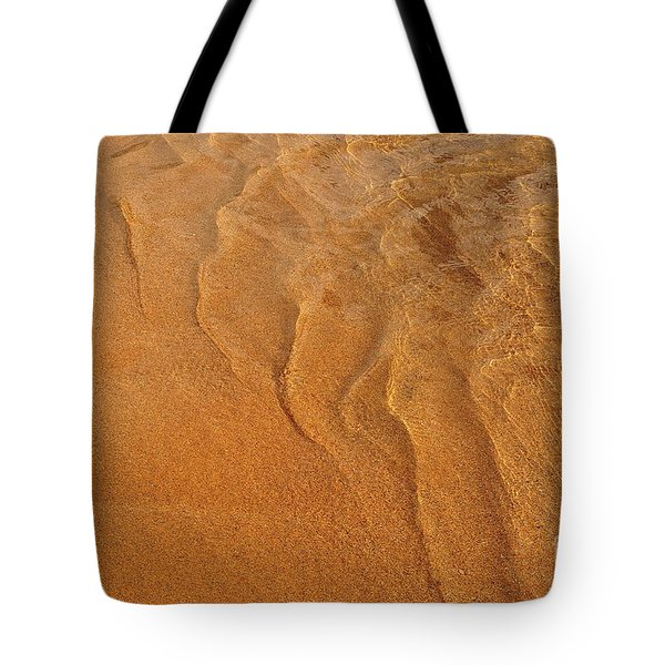 Golden Ripple Tote Bag