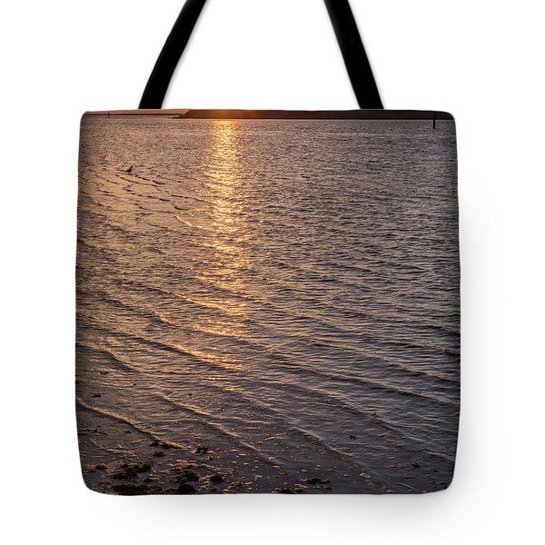 Golden Ripples Lbi New Jersey Sunset  Tote Bag