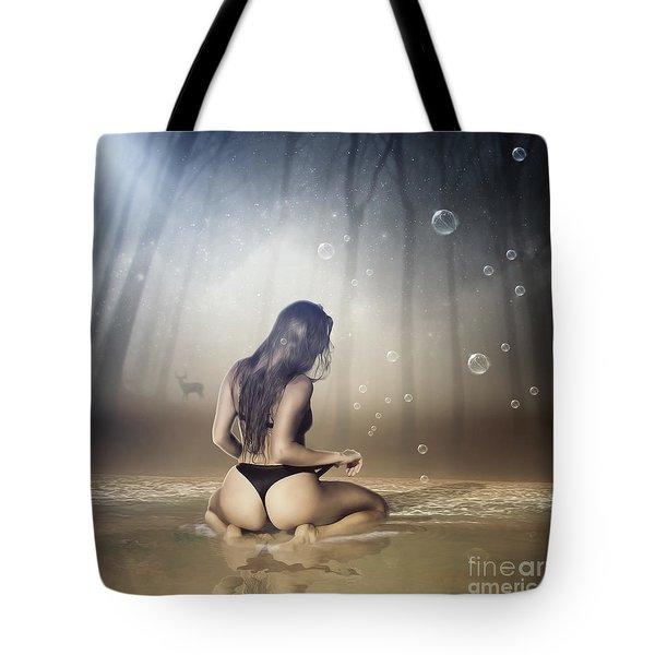 Golden River Tote Bag