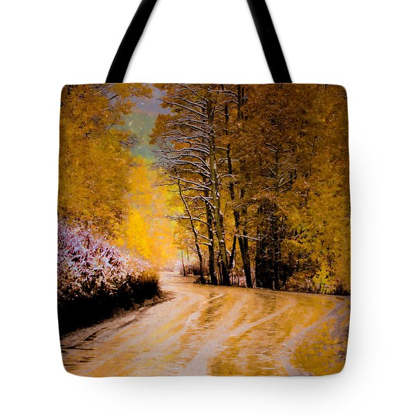 Golden Road Tote Bag