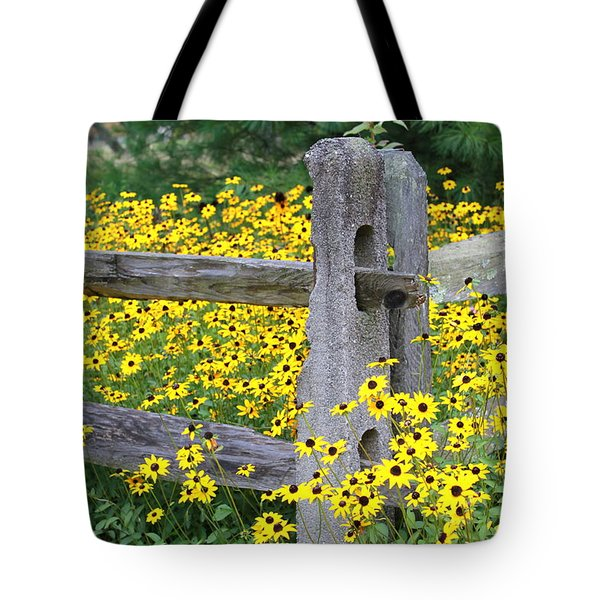 Golden-rod  Crowd Out Tote Bag
