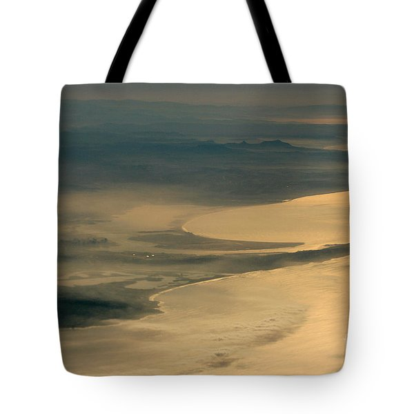 Golden San Diego From The Air In The Poetry Of Being High Up In The Air Tote Bag by Wernher Krutein
