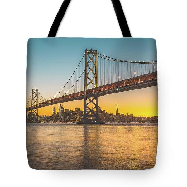 Golden San Francisco Tote Bag by JR Photography
