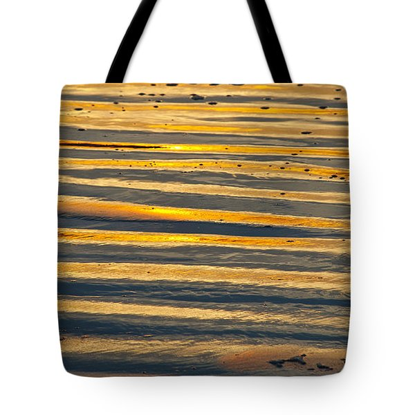 Golden Sand On Beach Tote Bag