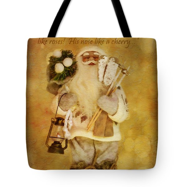 Golden Santa Card 2015 Tote Bag