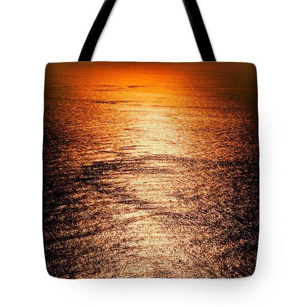 Golden Sea In Alanya Tote Bag