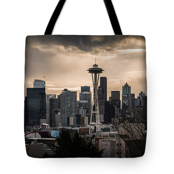 Golden Seattle Tote Bag by Chris McKenna