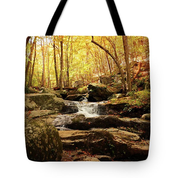 Golden Serenity Tote Bag by Rebecca Davis