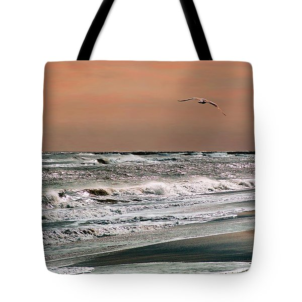 Tote Bag featuring the photograph Golden Shore by Steve Karol