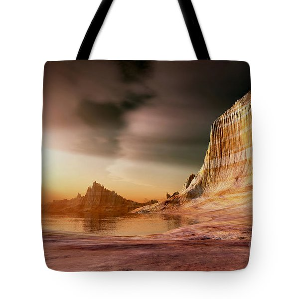 Golden Shores Tote Bag by Corey Ford
