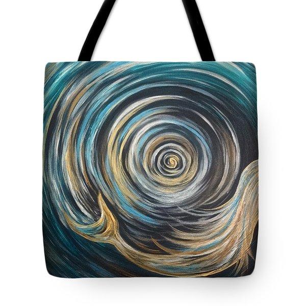 Golden Sirena Mermaid Spiral Tote Bag