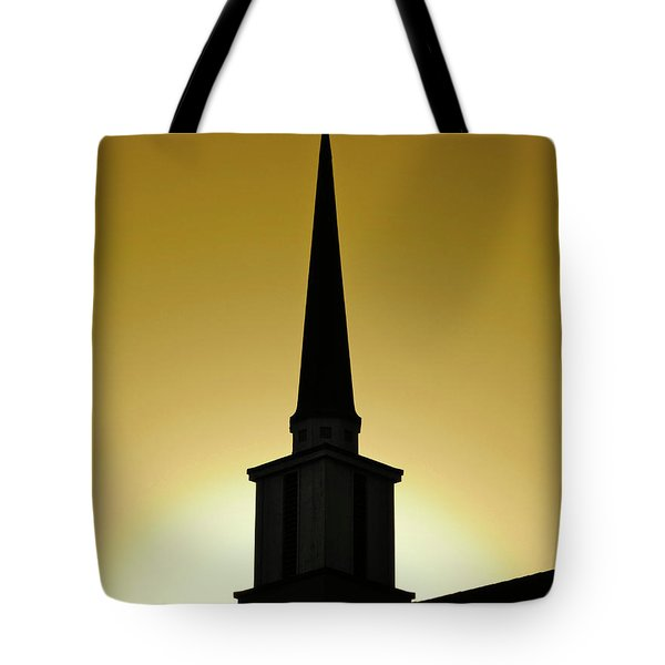 Golden Sky Steeple Tote Bag