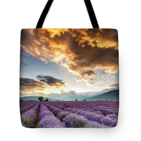 Golden Sky, Violet Earth Tote Bag by Evgeni Dinev