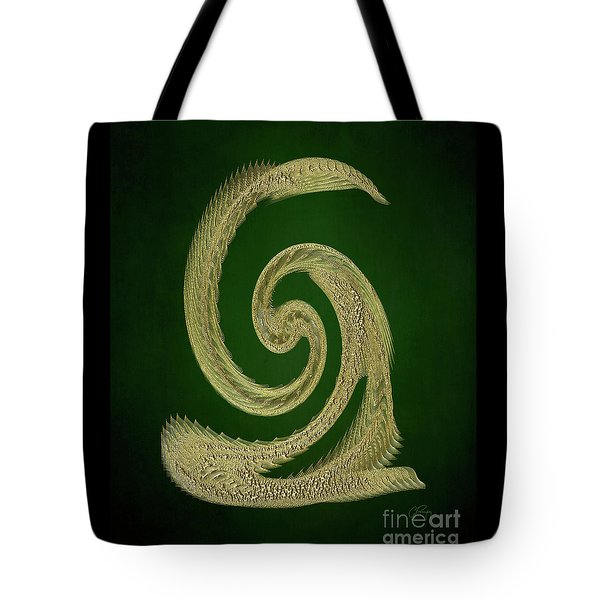 Golden Snake Abstract Tote Bag