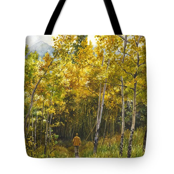 Golden Solitude Tote Bag by Anne Gifford