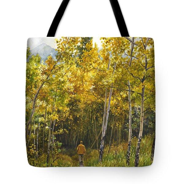 Golden Solitude Tote Bag