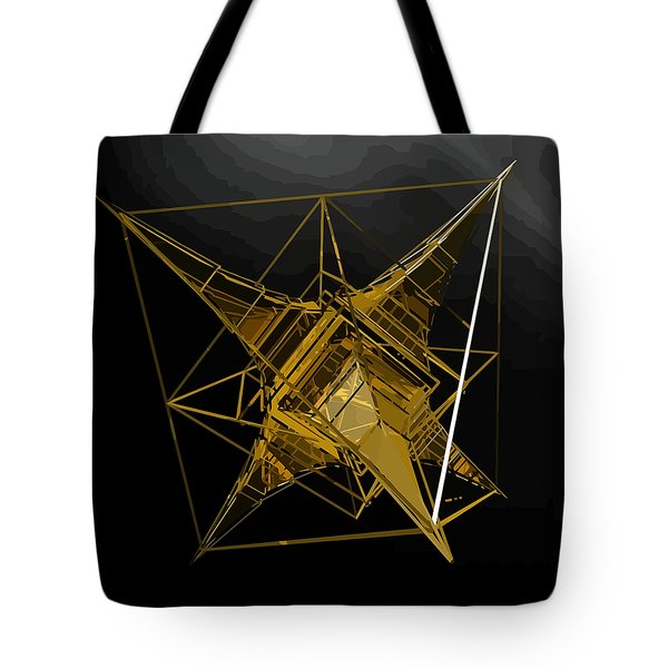 Golden Space Craft Tote Bag