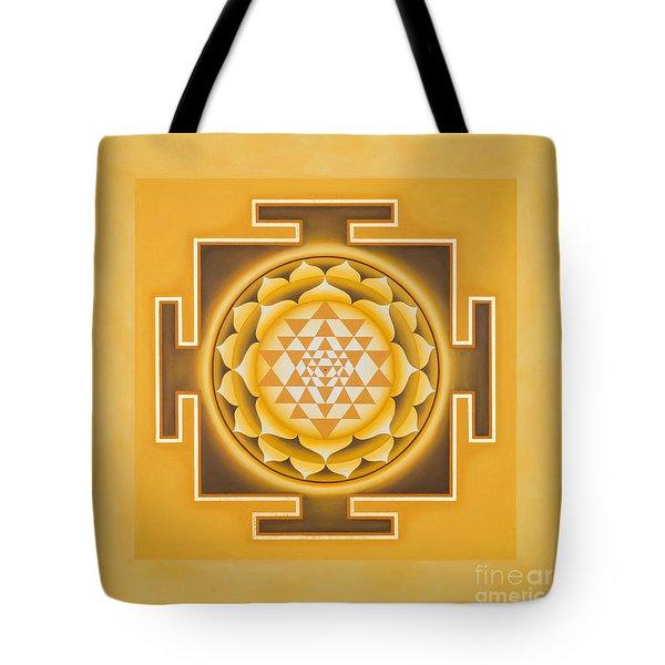Golden Sri Yantra - The Original Tote Bag