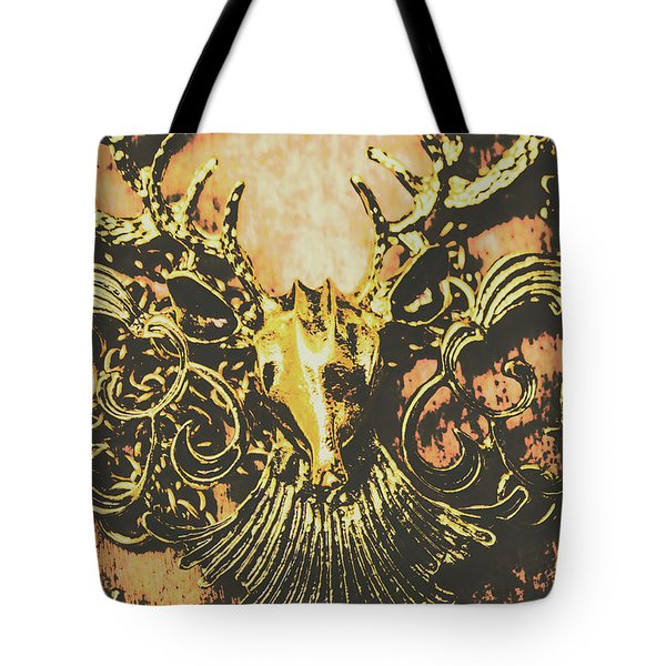 Golden Stag Tote Bag