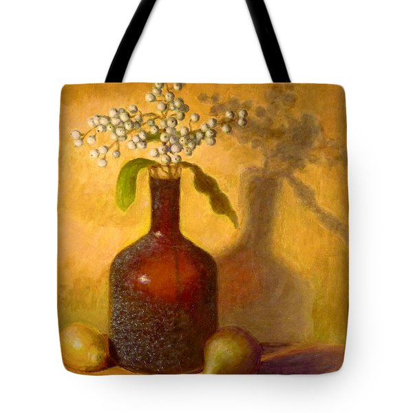 Tote Bag featuring the painting Golden Still Life by Joe Bergholm