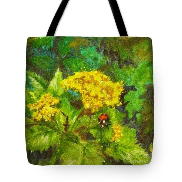 Golden Summer Blooms Tote Bag