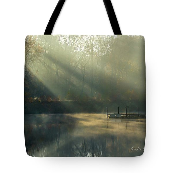 Tote Bag featuring the photograph Golden Sun Rays by George Randy Bass
