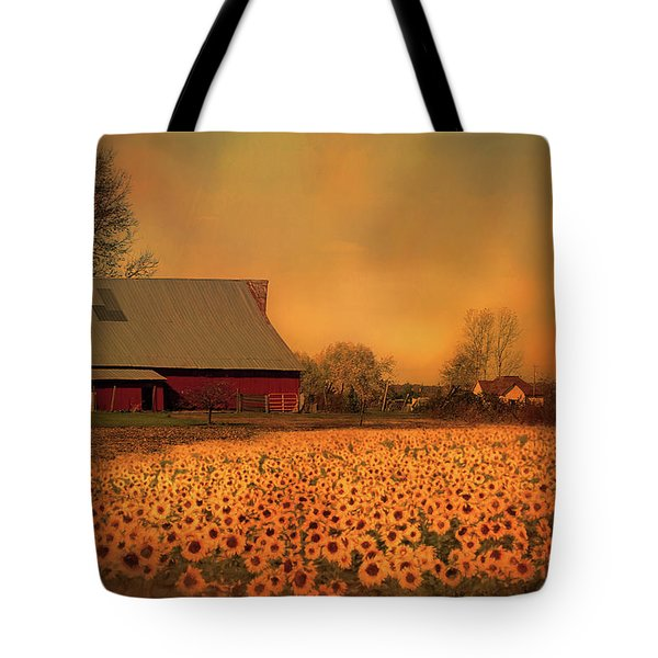 Golden Sunflower Harvest Tote Bag