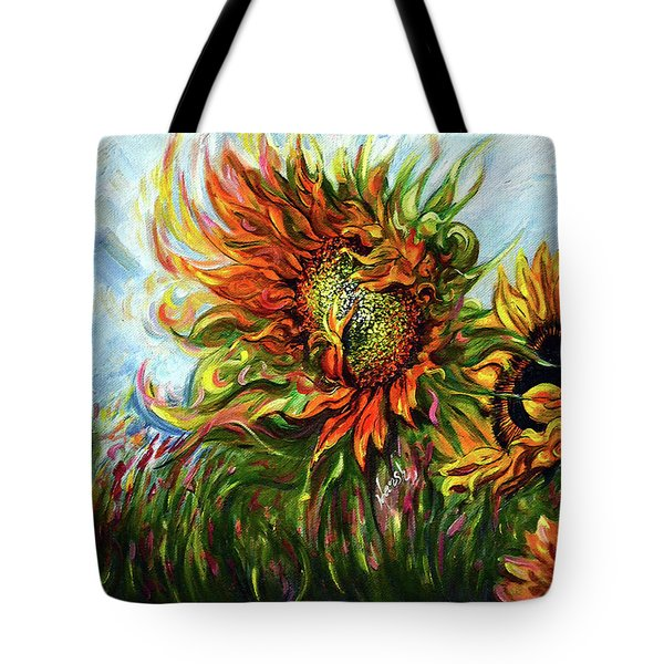 Golden Sunflowers - Harsh Malik Tote Bag