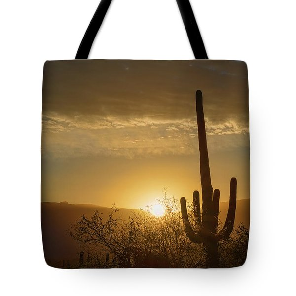 Tote Bag featuring the photograph Golden Sunrise by Dan McManus